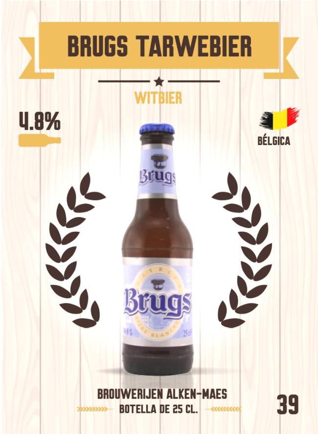 Cromo número 39 de la colección Cervezas del mundo