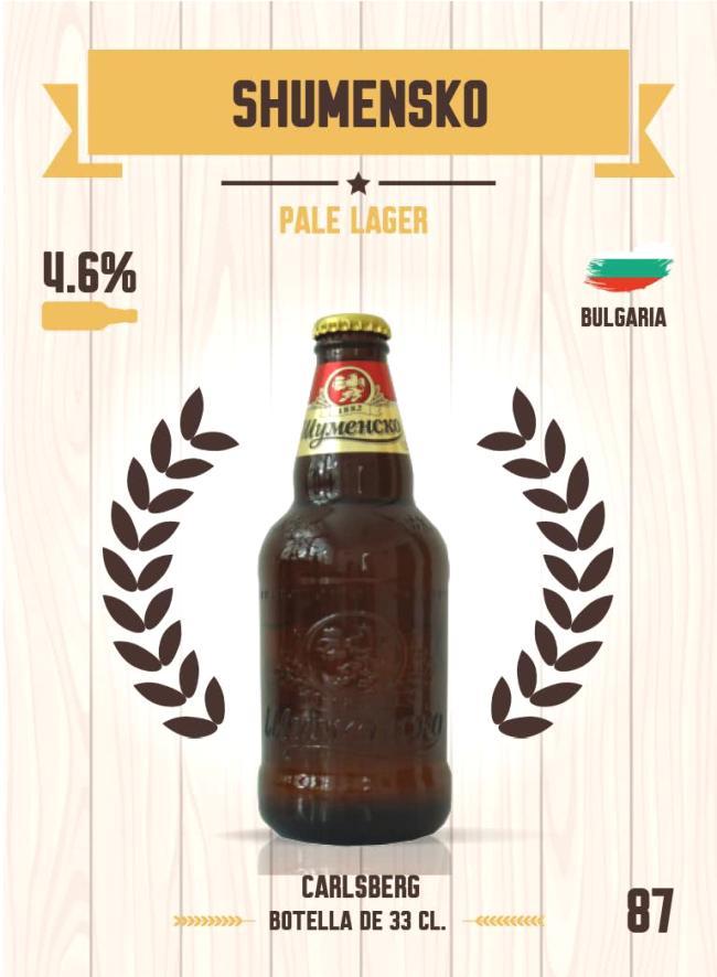 Cromo número 87 de la colección Cervezas del mundo