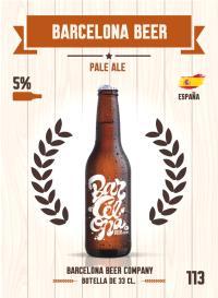 Cromo 113. Barcelona Beer
