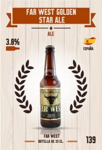 Cromo 139. Far West Golden Star Ale