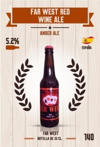 Far West Red Wine Ale. Cromo 140