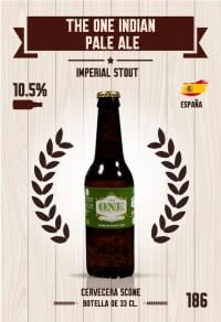 Cromo 186. The One Indian Pale Ale