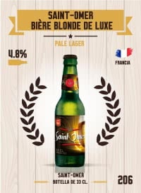 Saint-Omer Bière Blonde de Luxe. Cromo 206