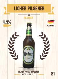 Cromo 21. Licher Pilsener