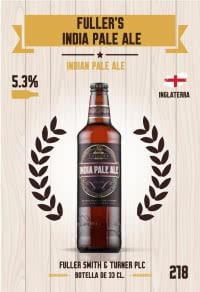 Fuller's India Pale Ale. Cromo 218