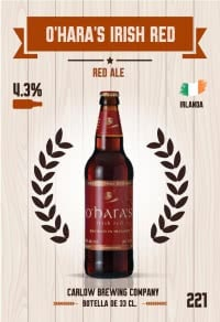 Cromo 221. O'Hara's Irish Red