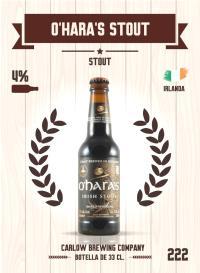 O'Hara's Stout. Cromo 222