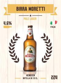 Birra Moretti. Cromo 224