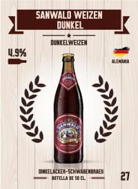 Sanwald Weizen Dunkel. Cromo 27