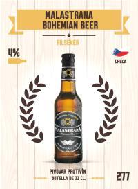 Malastrana Bohemian Beer. Cromo 277