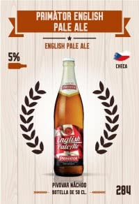 Primátor English Pale Ale. Cromo 284