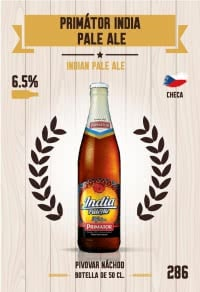 Primátor India Pale Ale. Cromo 286