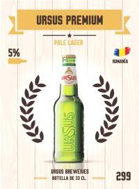 Cromo 299. Ursus Premium