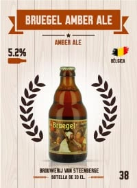 Bruegel Amber Ale. Cromo 38