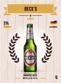 Cromo 4. Beck's