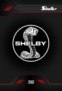shelby. Cromo 252