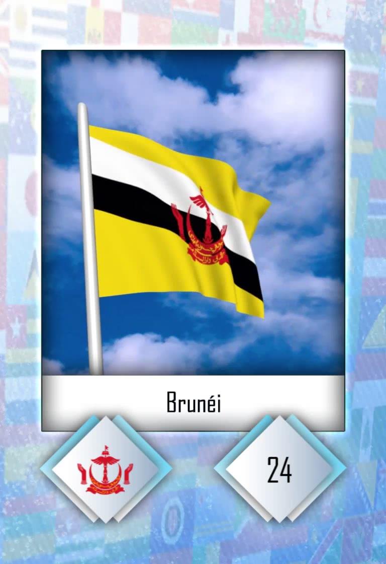 Cromo número 24 de la colección Banderas del mundo