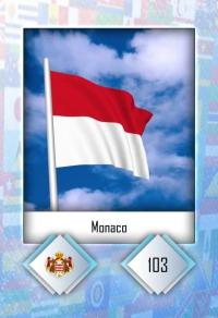 Monaco. Cromo 103