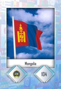 Mongolia. Cromo 104