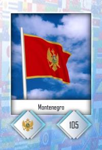 Montenegro. Cromo 105