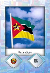 Cromo 107. Mozambique