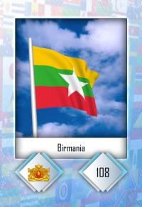 Cromo 108. Birmania