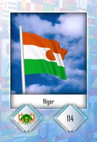Cromo 114. Níger