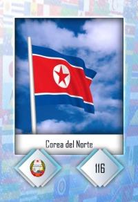 Corea del Norte. Cromo 116