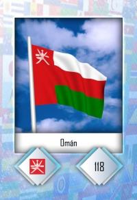 Cromo 118. Omán