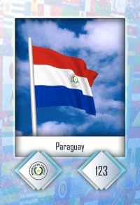 Cromo 123. Paraguay