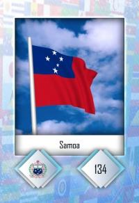 Samoa. Cromo 134