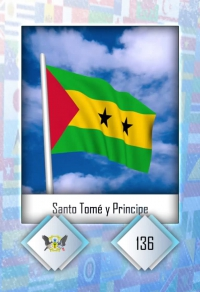 Cromo 136. Santo Tomé y Principe
