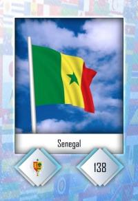 Cromo 138. Senegal