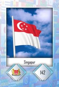 Cromo 142. Singapur