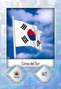 Cromo 147. Corea del Sur