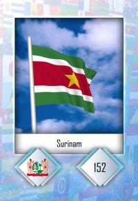 Surinam. Cromo 152