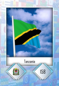 Cromo 158. Tanzania