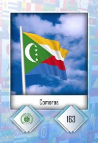 Cromo 163. Comoras
