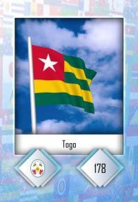 Togo. Cromo 178