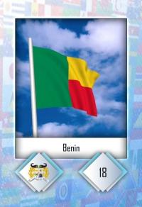 Benin. Cromo 18