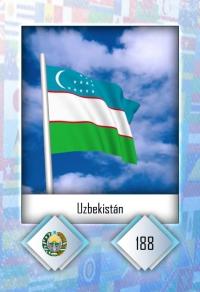 Uzbekistán. Cromo 188