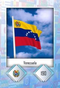 Cromo 190. Venezuela