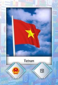 Cromo 191. Vietnam