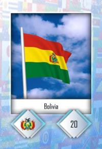 Cromo 20. Bolivia