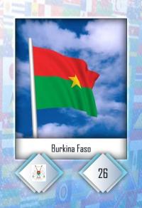 Burkina Faso. Cromo 26