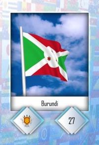 Cromo 27. Burundi