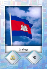 Camboya. Cromo 28
