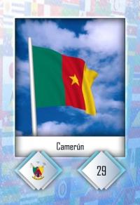 Camerún. Cromo 29