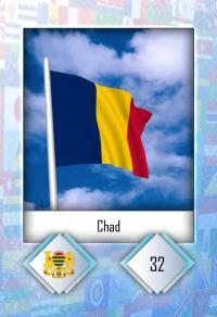 Chad. Cromo 32