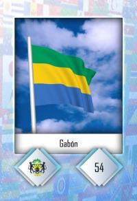 Cromo 54. Gabón